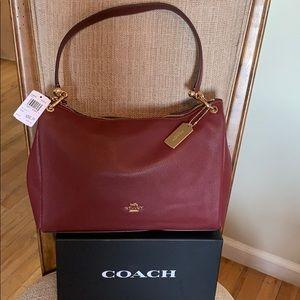 Coach Pebble Leather Mia Shoulder/Crossbody Wine